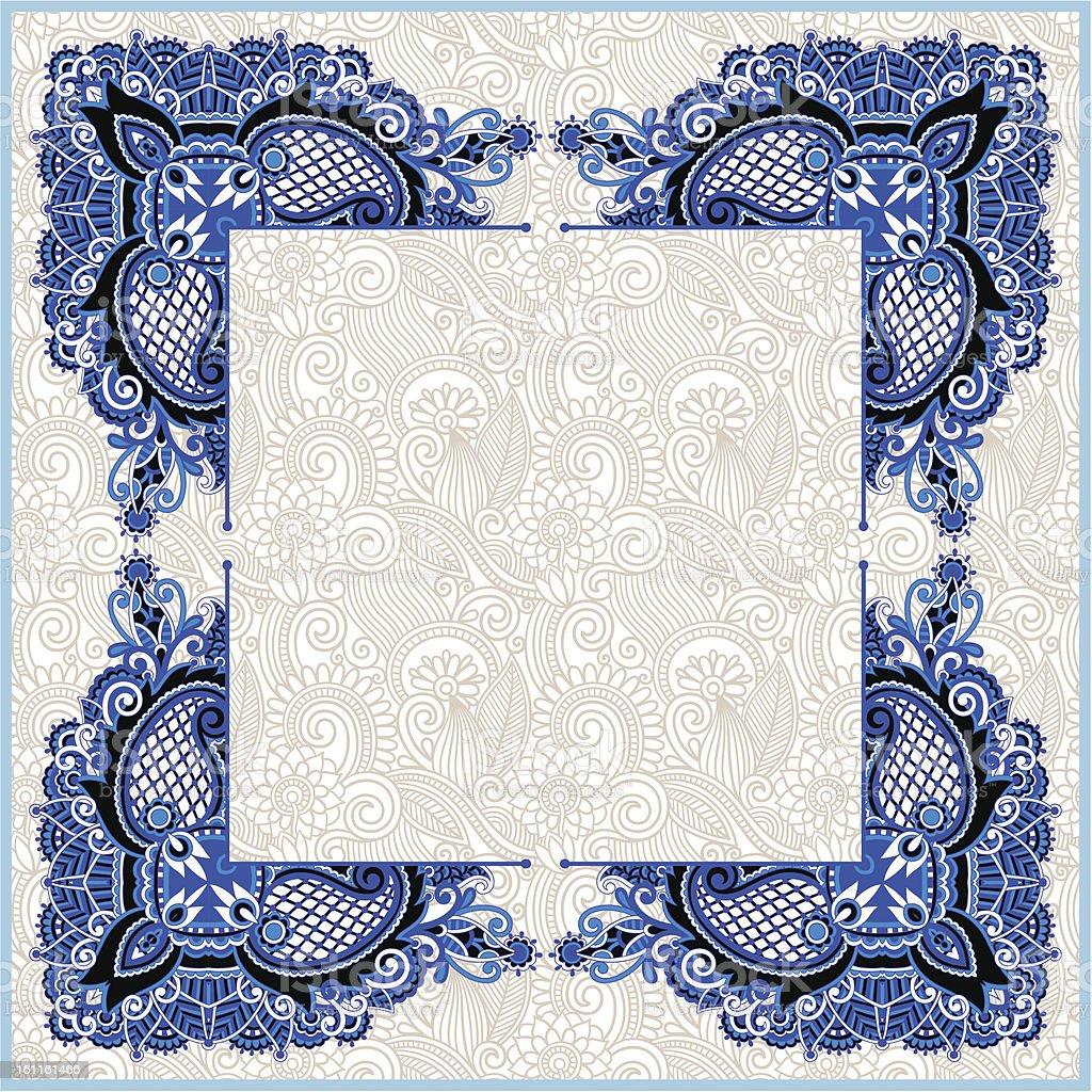 rectangle ornate frame royalty-free stock vector art