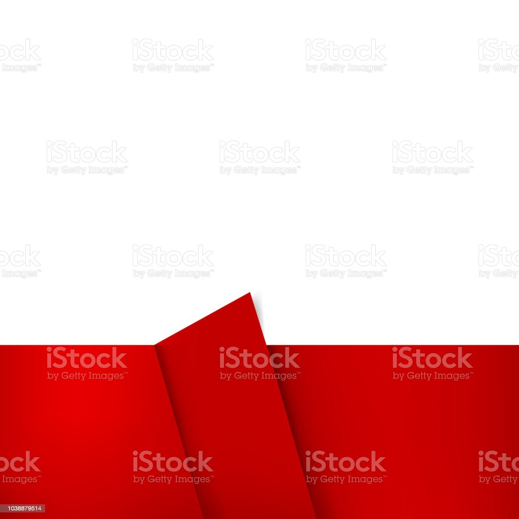 rectangle red and white blank template banner just add your own text