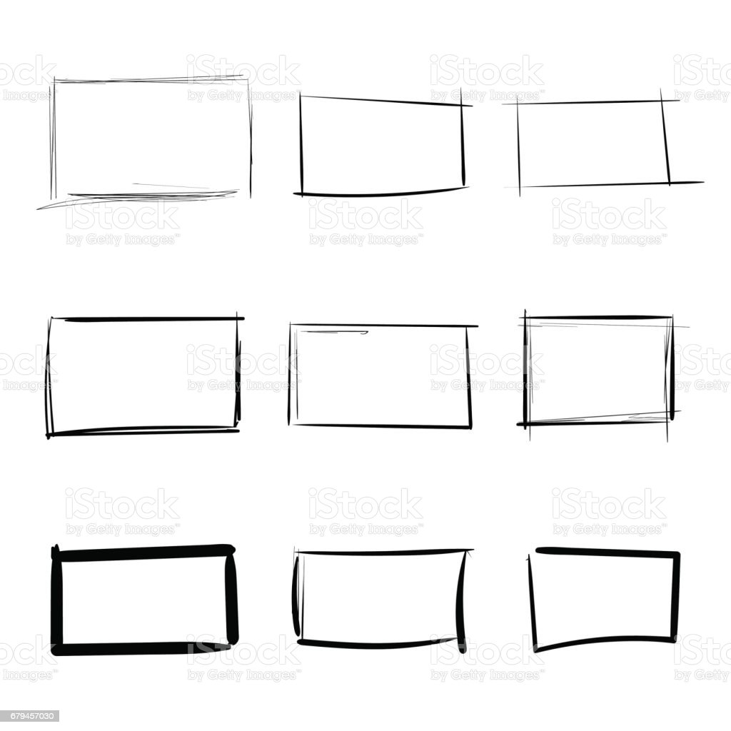Rectangle templates hand drawn simple set royalty-free rectangle templates hand drawn simple set stock vector art & more images of abstract