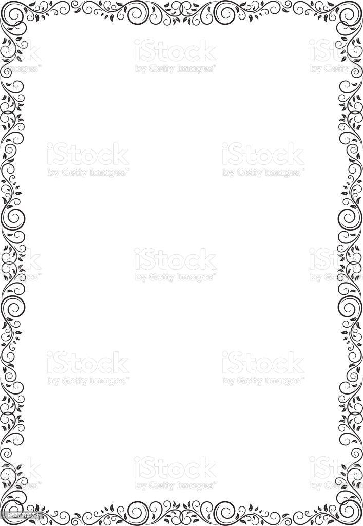 Rectangular Black Ornate Frame Decorative Corners For Cards