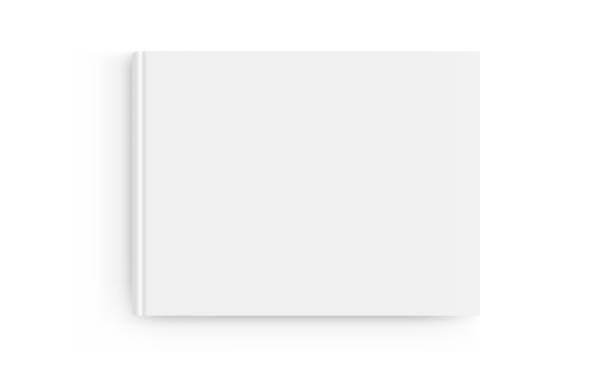 ilustrações de stock, clip art, desenhos animados e ícones de rectangular book cover mockup isolated on white background - top view - horizontal