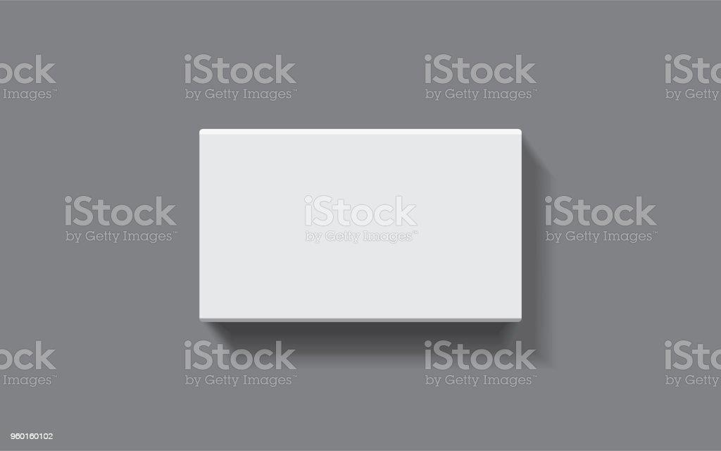 boîte rectangulaire sur un fond sombre - Illustration vectorielle