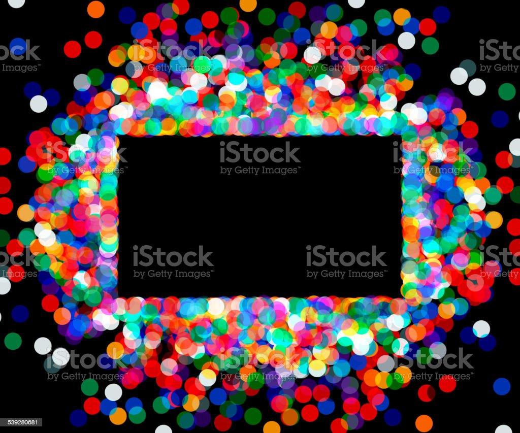 El bastidor rectangular de confeti colorido - ilustración de arte vectorial