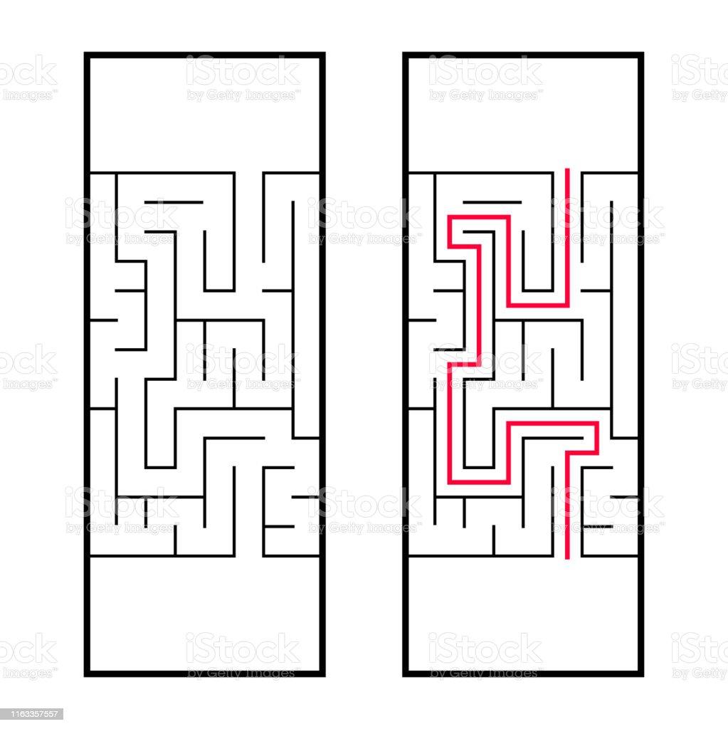 長方形の迷路 迷路未就学児のための興味深く便利なゲーム簡単なパズルゲーム単純なフラットベクトルイラストは白い背景に分離されています正しい決断だ ひらめきのベクターアート素材や画像を多数ご用意 Istock