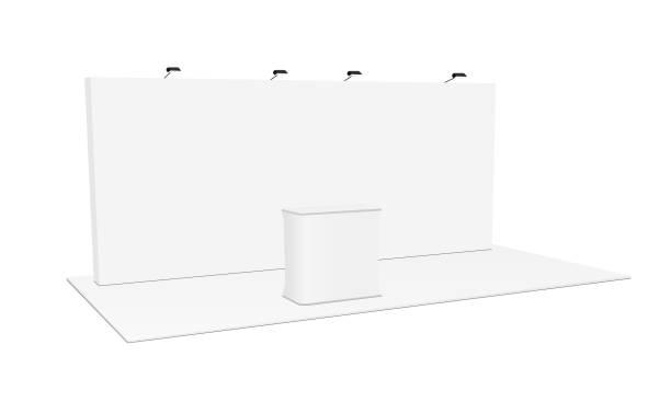 Rectangular pop up display system & podium vector art illustration