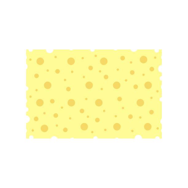 stockillustraties, clipart, cartoons en iconen met rechthoekige spons op een witte achtergrond. vector - spons
