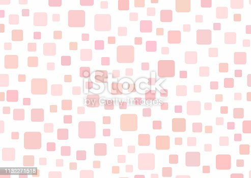 istock Rectangular template with squares. Simple girly background. 1132271518