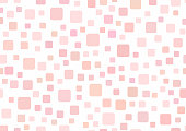 Rectangular template with squares. Simple girly background. Vector illustration.