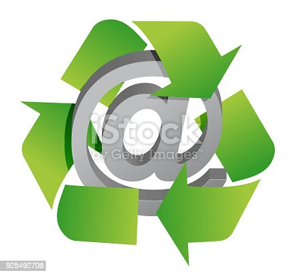 Recycle And Att Sign Illustration Design Over White Stock Vector Art