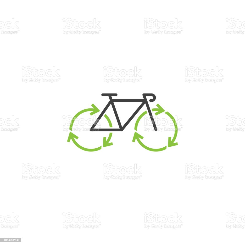 recycle and bicycle logo design template stock vector art more
