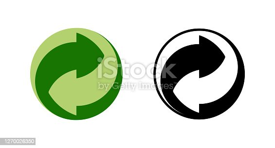 istock Recycle and some packaging sign 1270026350