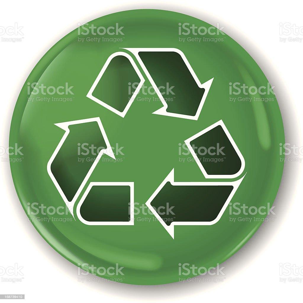 recycle arrow badge (1 credit) royalty-free stock vector art