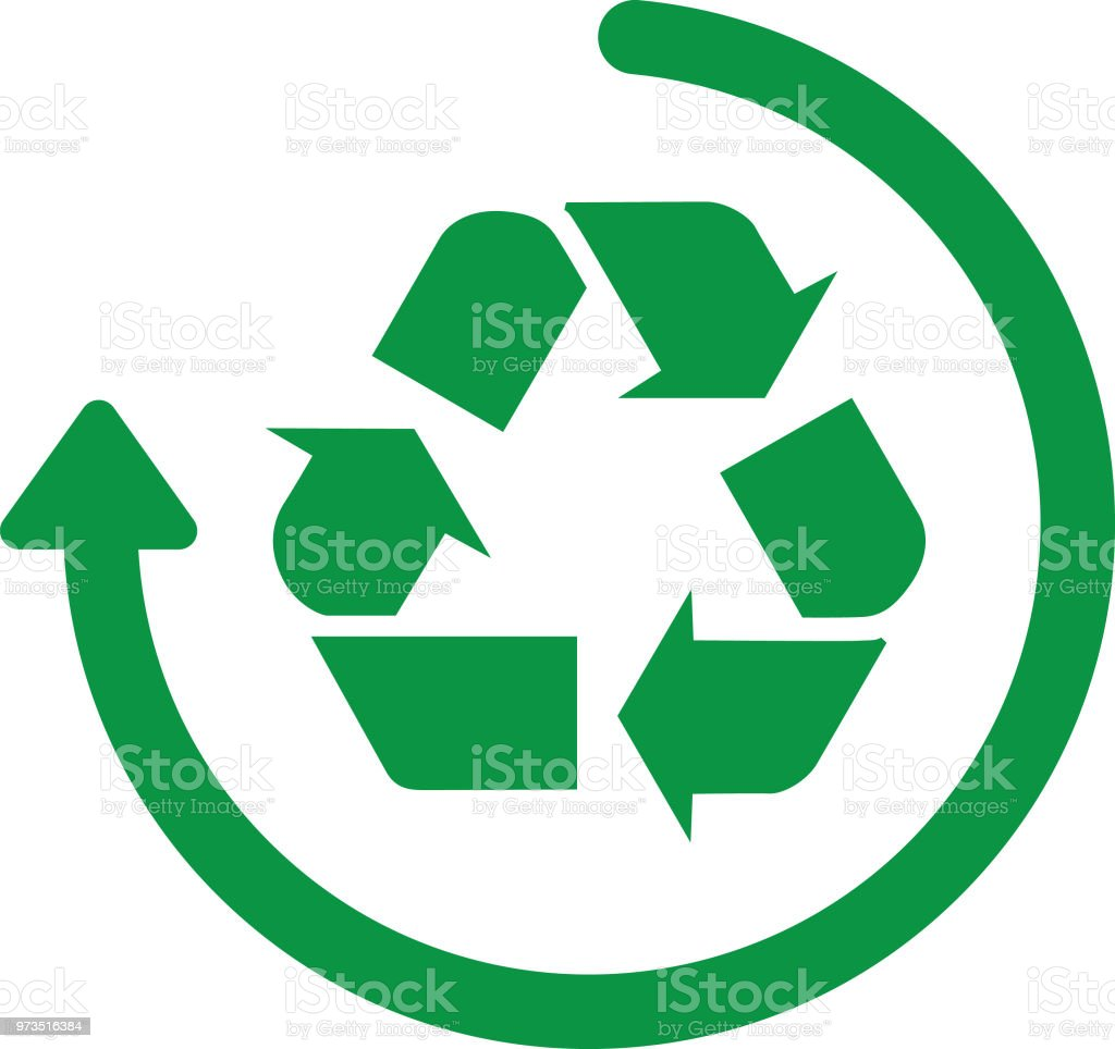 Recycle Arrow Circle Icon Stock Vector Art More Images Of Arrow