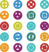 Recycle arrow icon set