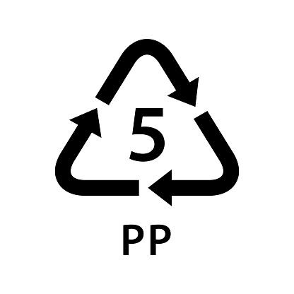 Ilustración de Reciclar Triángulo De Flecha Pp Tipos 5 Aislados ...