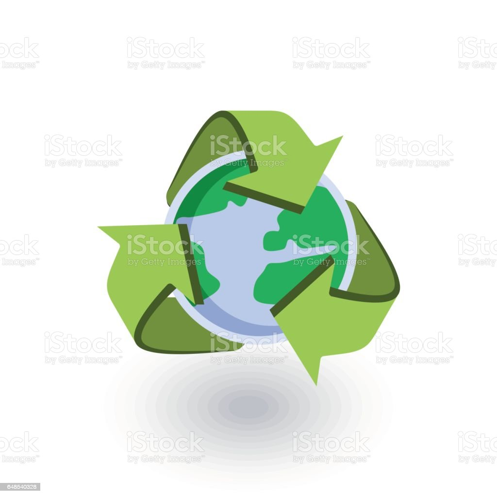 Recycle arrows and earth isometric flat icon 3d vector stock vector recycle arrows and earth isometric flat icon 3d vector royalty free recycle arrows and gumiabroncs Images