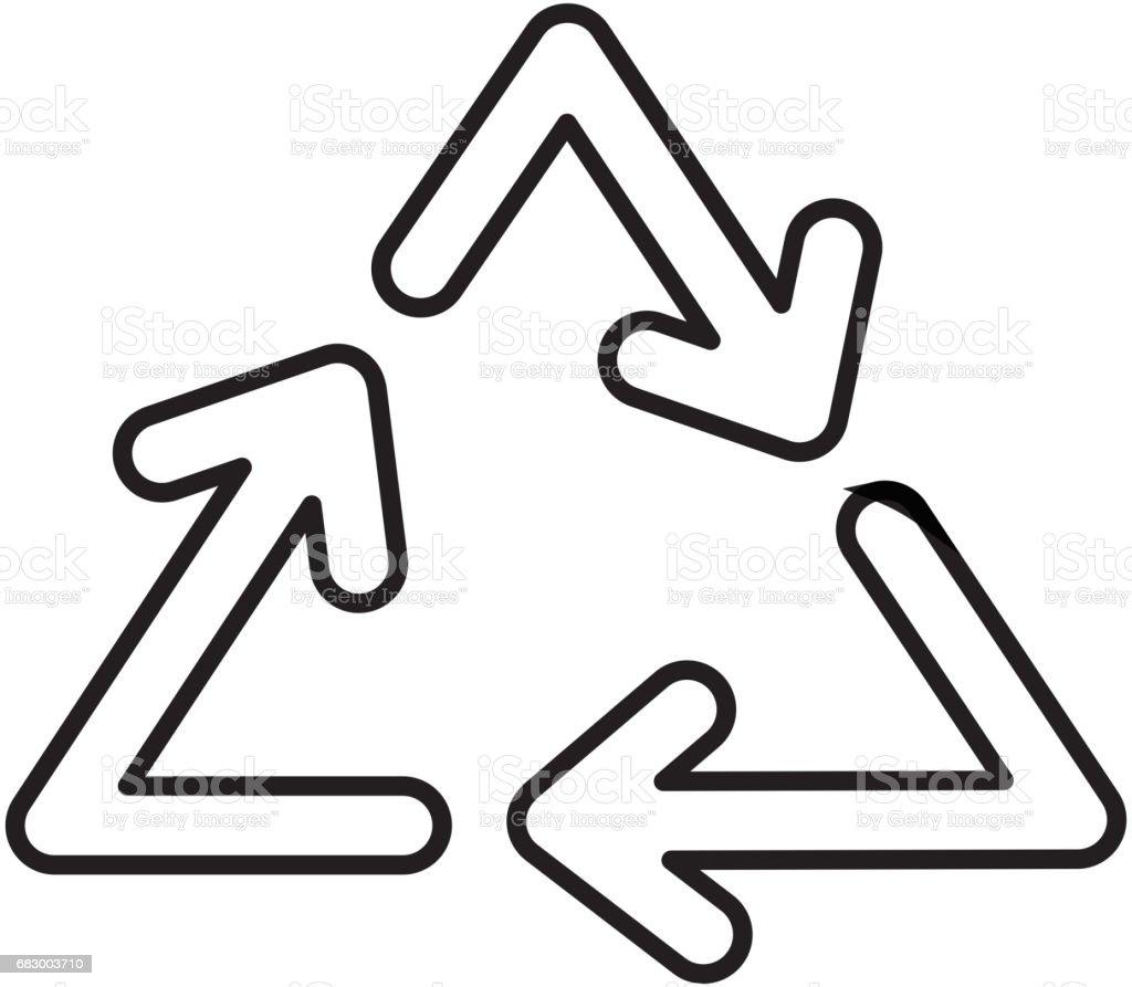 Recycle arrows symbol royalty-free recycle arrows symbol stock vector art & more images of arrow symbol
