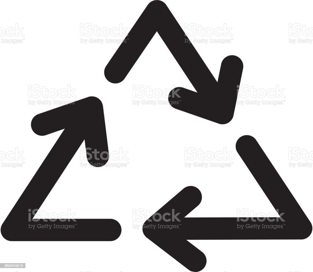Recycle arrows symbol recycle arrows symbol - arte vetorial de stock e mais imagens de bicicleta - veículo movido por pessoas royalty-free