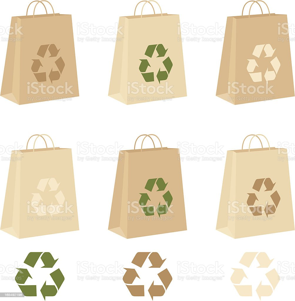 Recycle Bags - incl. jpeg royalty-free recycle bags incl jpeg stock vector art & more images of bag