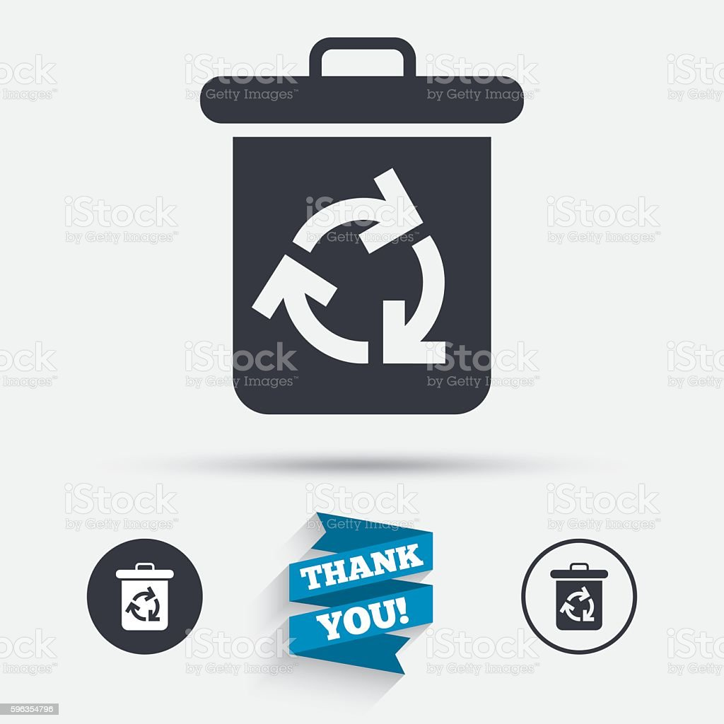 Recycle bin icon. Reuse or reduce symbol. royalty-free recycle bin icon reuse or reduce symbol stock vector art & more images of badge