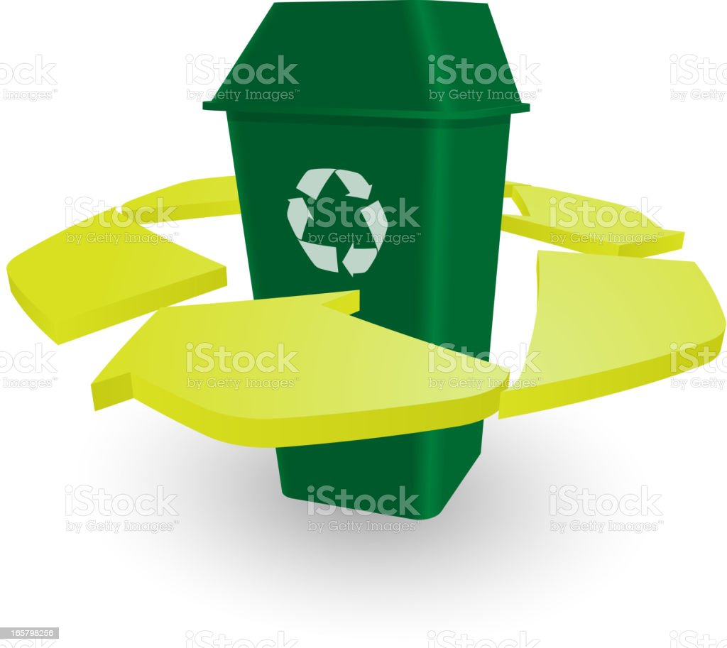 Recycle Bin royalty-free recycle bin stock vector art & more images of blue
