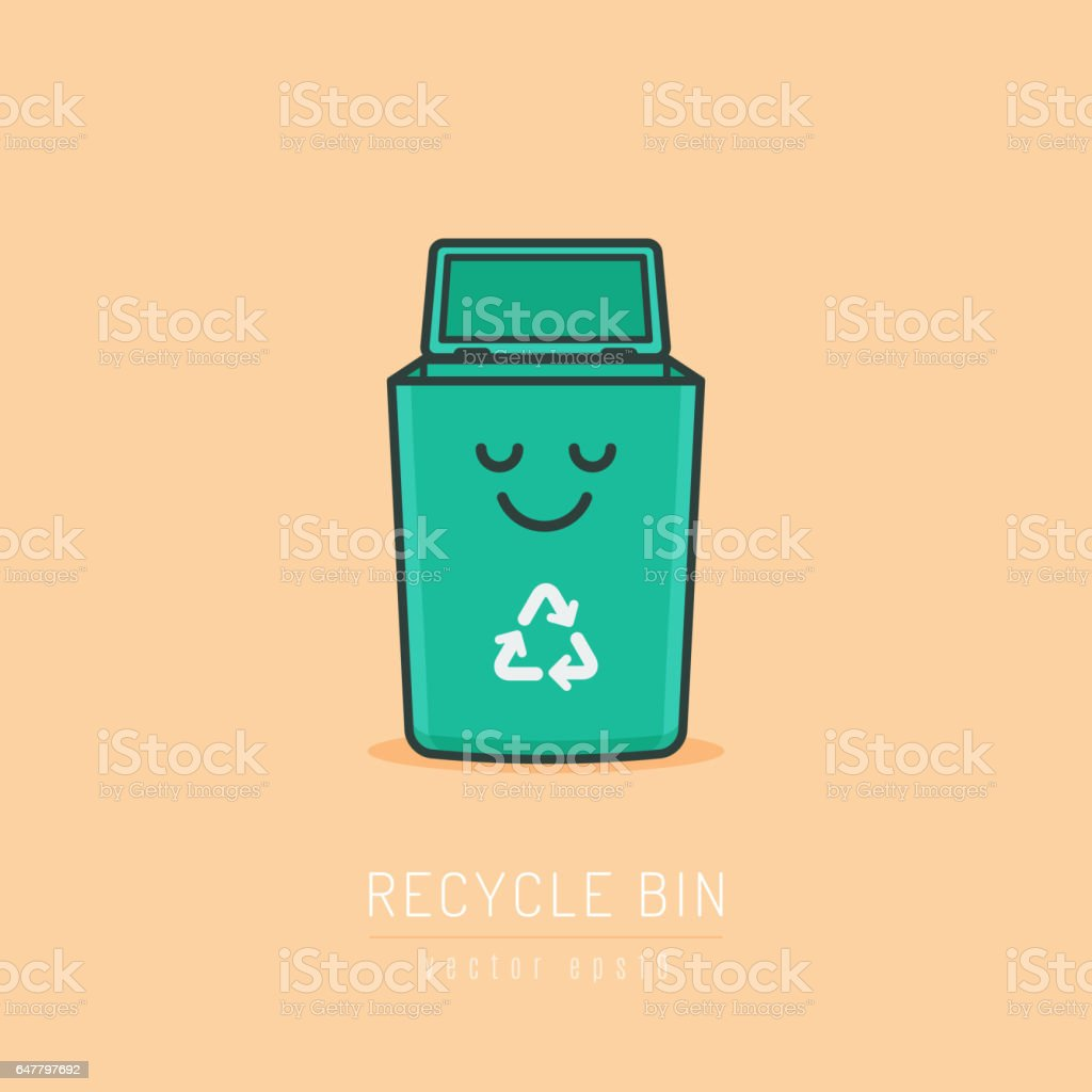 Recycle Bin vector art illustration