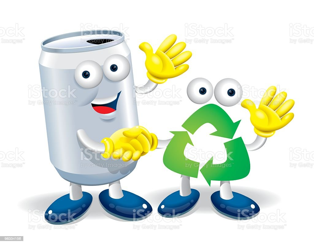 Recycle Boy and Aluminum Can royalty-free recycle boy and aluminum can stock vector art & more images of aluminum