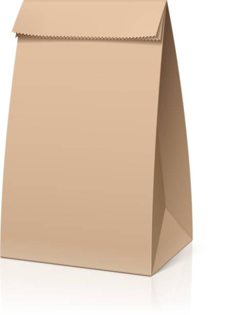 Recycle Brown Paper Bag Vector Art Illustration