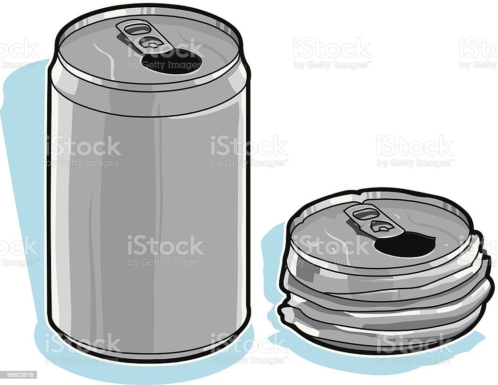 Recycle Cans vector art illustration