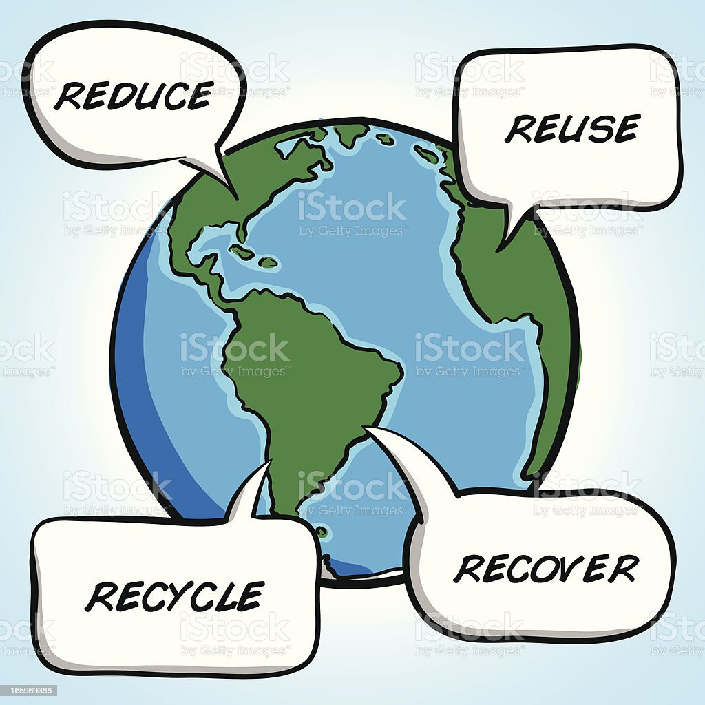 Recycle concept royalty-free stock vector art
