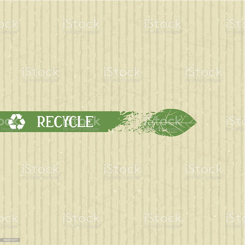 Recycle conceptual element vector art illustration