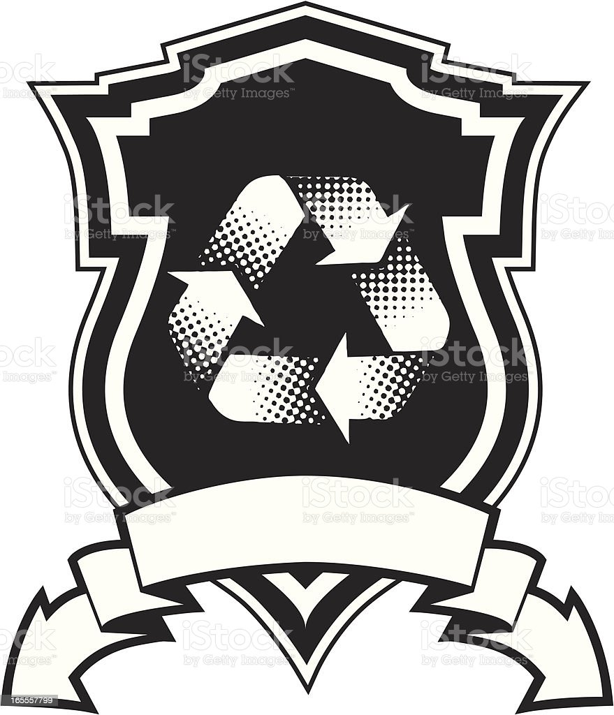 recycle crest royalty-free stock vector art