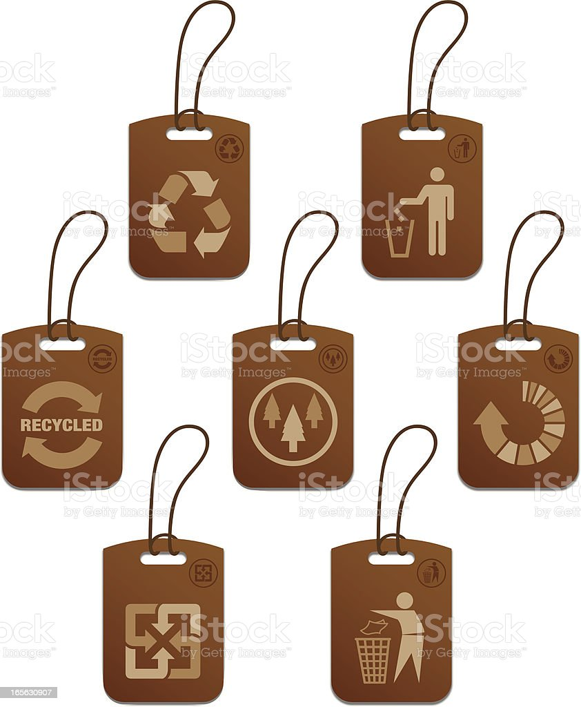 Recycle & Environment Tags royalty-free stock vector art