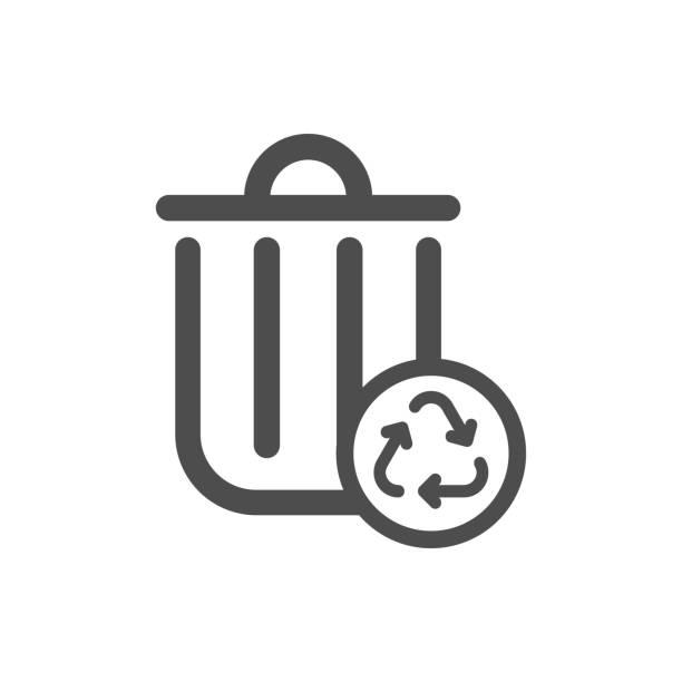 ilustrações de stock, clip art, desenhos animados e ícones de recycle garbage bin - box separate life