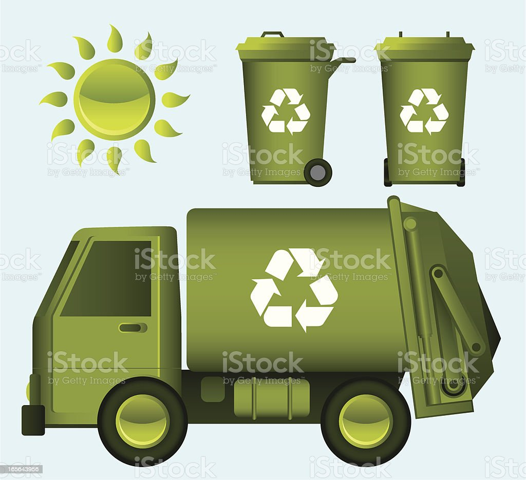 Recycle garbage Truck royalty-free stock vector art