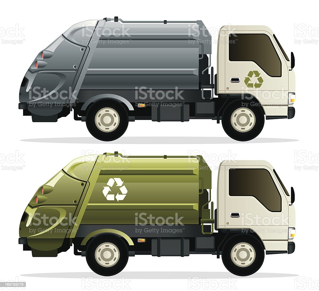 Recycle Garbage Truck vector art illustration