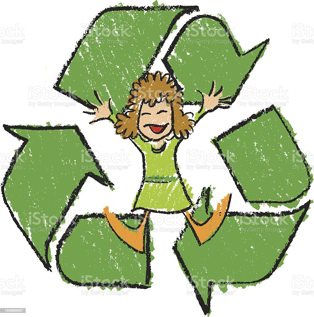 Recycle Girl royalty-free recycle girl stock vector art & more images of 4-5 years