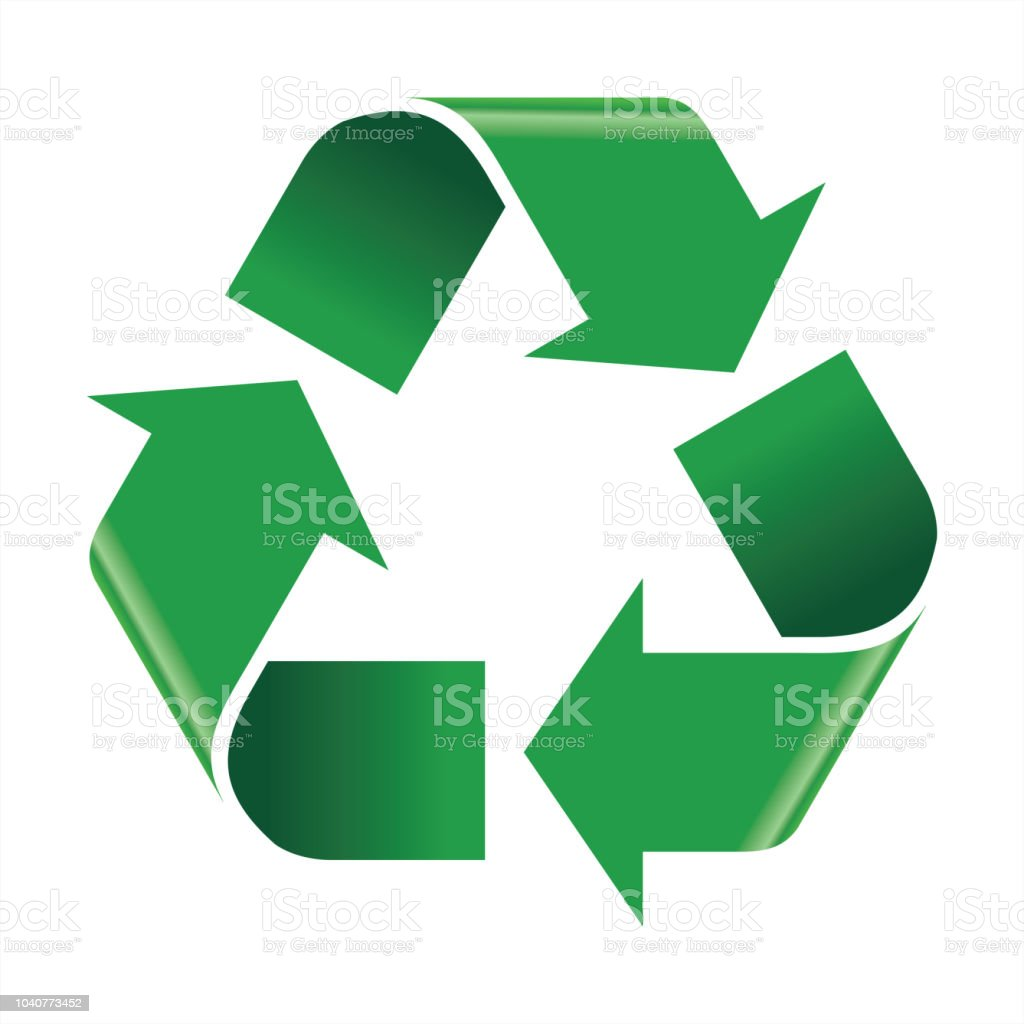 Recycle icon vector royalty-free recycle icon vector stock illustration - download image now