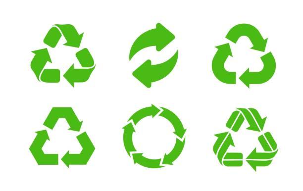 illustrazioni stock, clip art, cartoni animati e icone di tendenza di recycle icon vector. - riutilizzabile