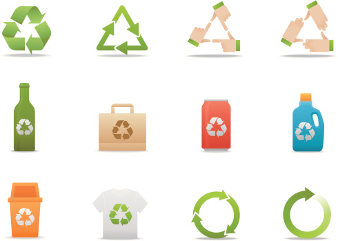 Recycle icons   Premium Matte series