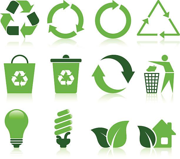 illustrations, cliparts, dessins animés et icônes de recycler icônes de - recyclage