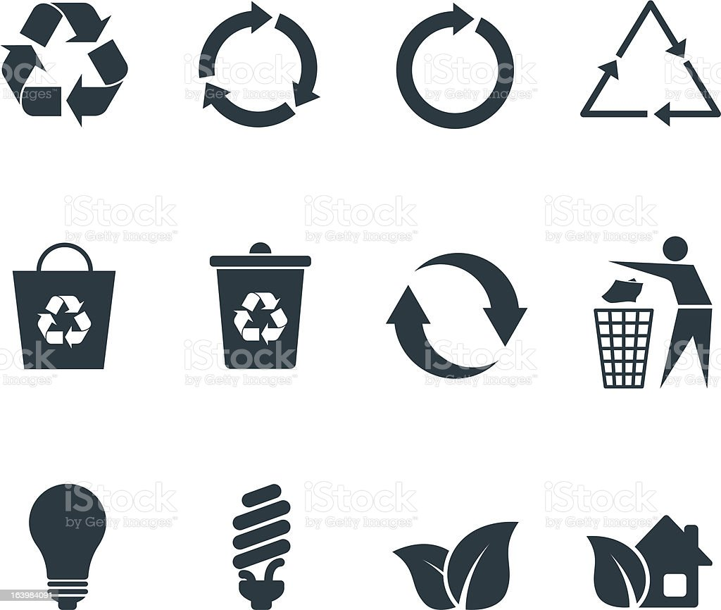 Recycle icons vector art illustration