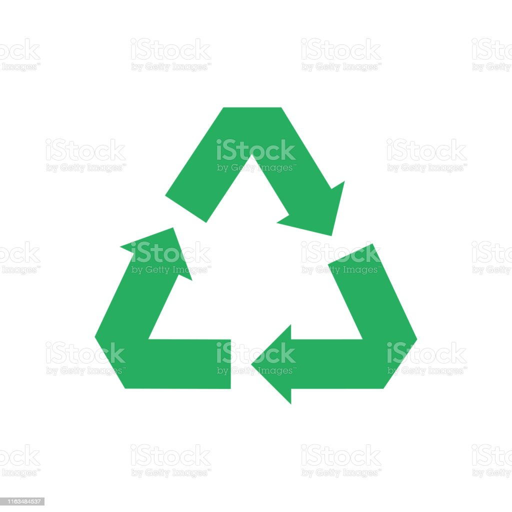 Recycle isolated icon. Protection nature resoures. Recycling symbol...