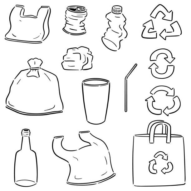 Sac En Plastique Vecteurs et Illustrations Libres de