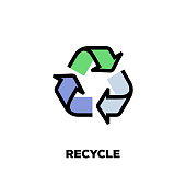 Recycle Line Icon