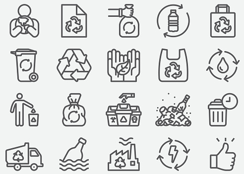 Recycle Line Icons