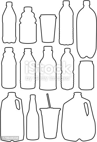 istock Recycle Outlines 179948038