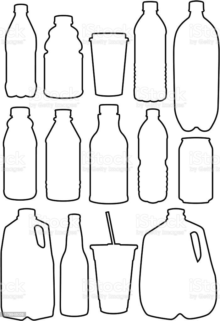 Recycle Outlines vector art illustration