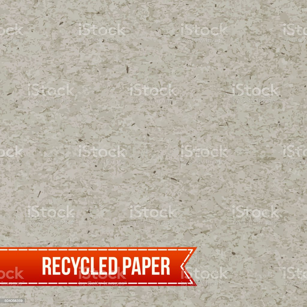 Recycle paper texture vector art illustration