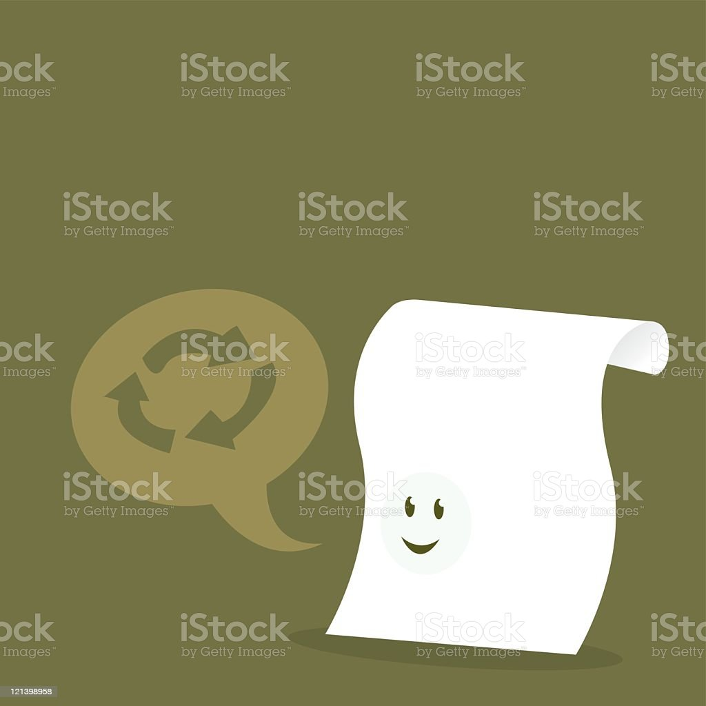 Recycle Paper royalty-free stock vector art
